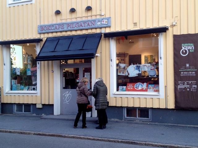 Bokcafé Pilgatan i Umeå.