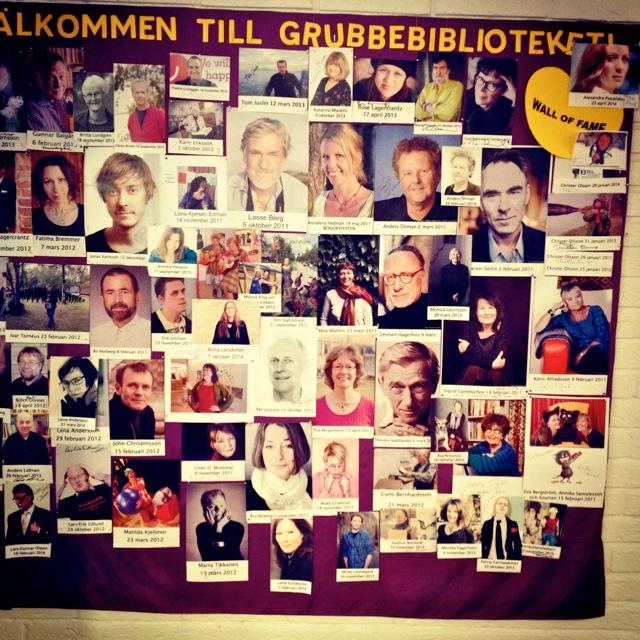Anna Larsdotter i Wall of Fame, Grubbebiblioteket, Umeå.