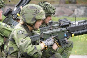 Kvinnliga soldater – redan verklighet. Foto: Förvarsmakten