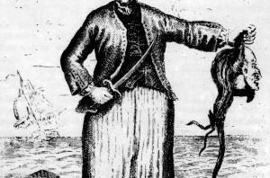 Ann Mills, soldat, med avhugget huvud.